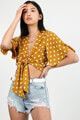 Savage Honey - Crop Bluse - Mustard