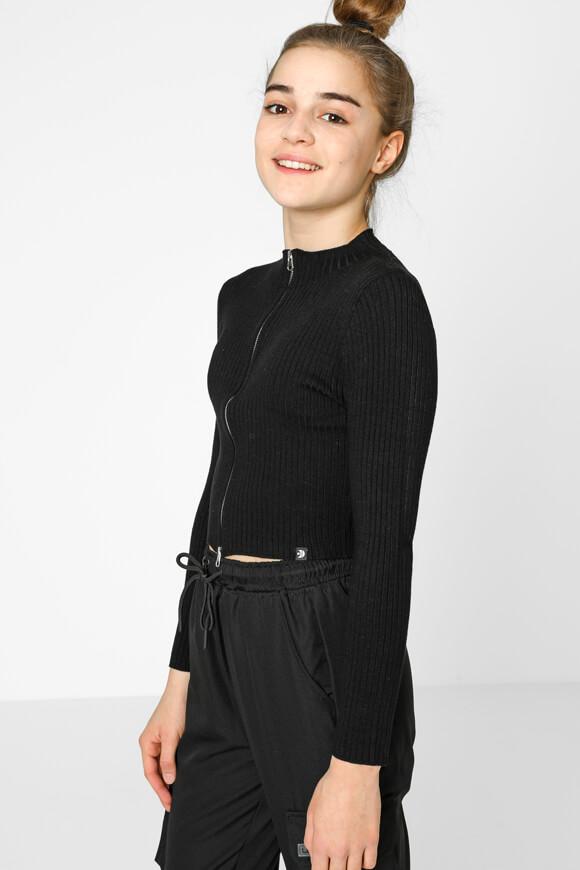 Image sur Jaquette courte en tricot côtelé