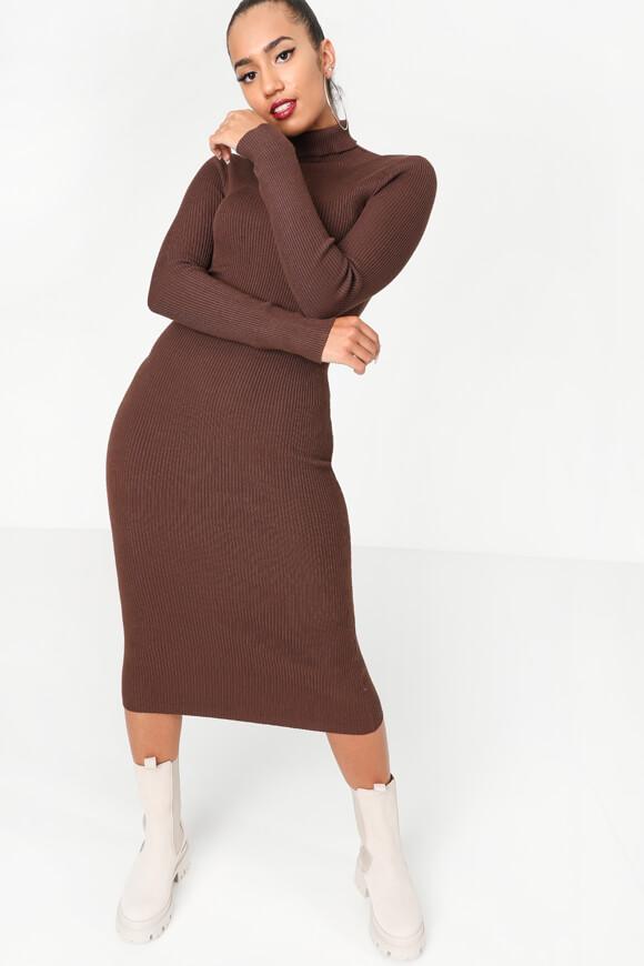 Bild von Geripptes Bodycon Kleid